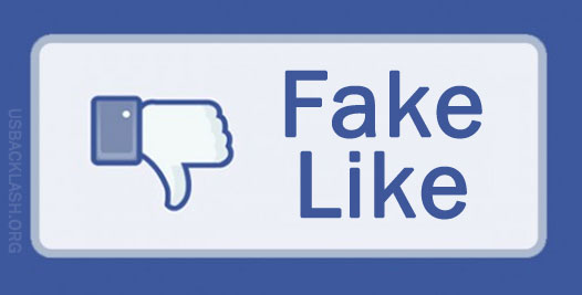 "Facebook disLIKES ""fake LIKES""/Image: USBacklash"